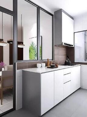 Side kitchen cabinet
